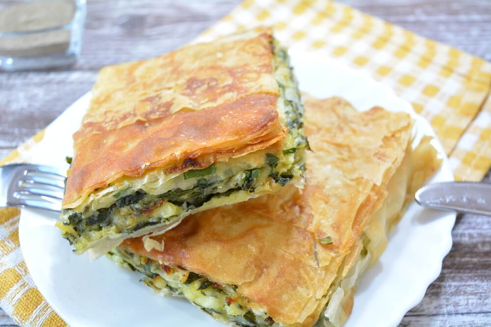 chard and spinach pie
