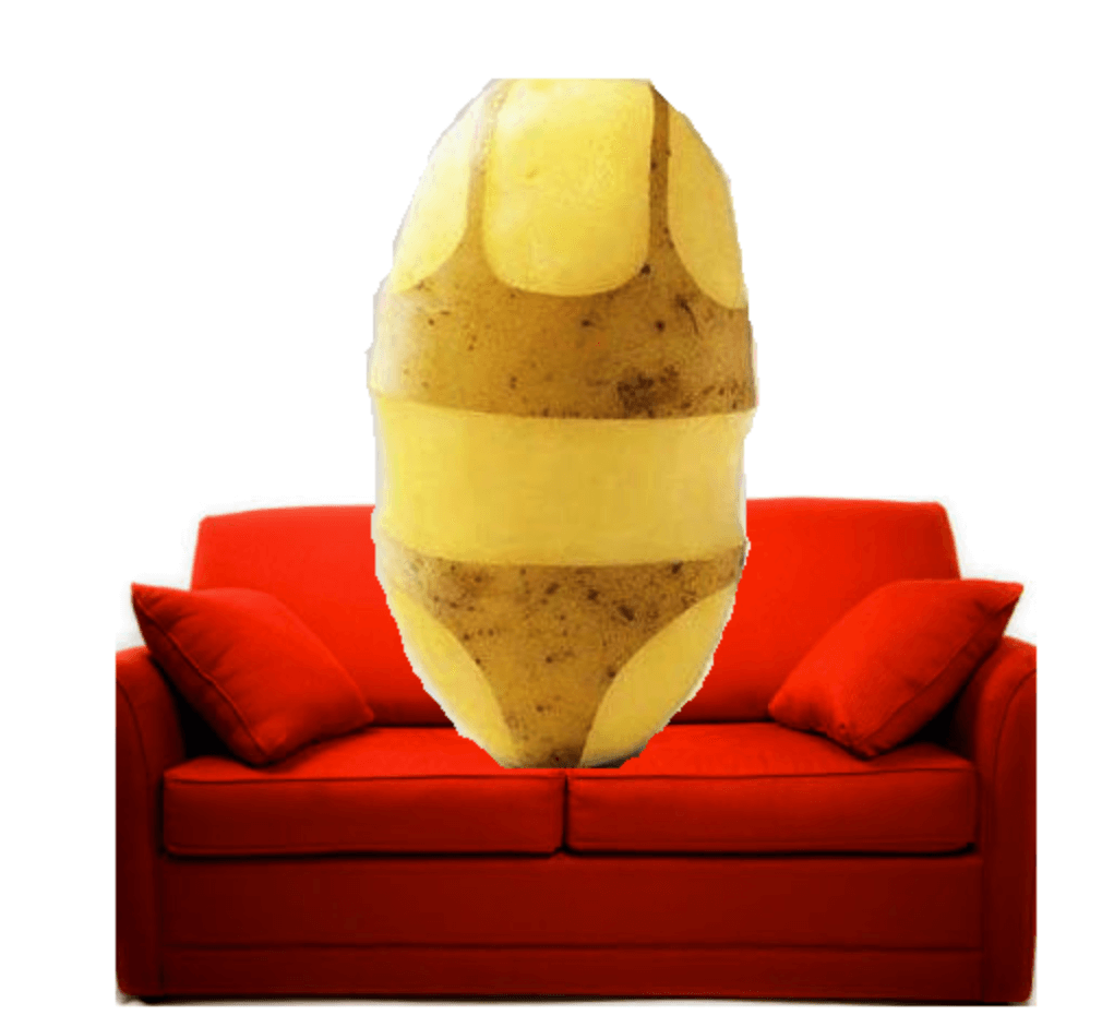 potato on couch