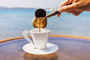 Greek Coffee being poured